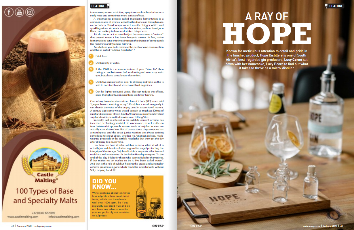Castle Malting® in OnTap magazine, South Africa