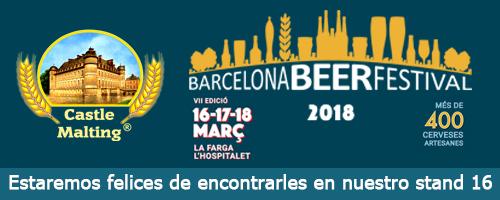 Barcelona Beer Festival, España / 16 - 18 Marzo 2018