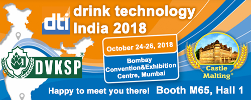 Drink Technology India 2018, Mumbai - India, 24 - 26 October