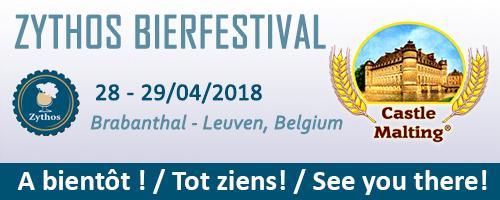Bierfestival Zythos, Leuven - Belgium, 28 - 29  April 2018