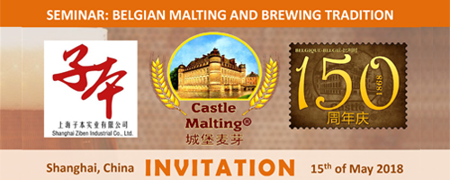 Castle Malting Seminar, Shanghai 15th of May 2018
