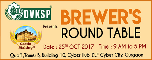 Brewer's Round Table, Gurgaon, India  25 October 2017