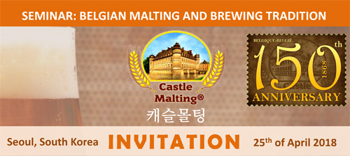 Castle Malting Seminar, Seoul 25th of April 2018