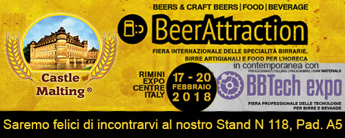Beer Attraction in contemporanea con BBTech Expo,  Rimini, Italy / 17 - 20 febbraio 2018