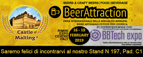 Beer Attraction 2019, Rimini Italy, 16 - 19 February