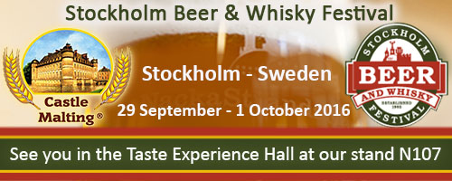 Stockholm Beer & Whisky Festival, Sweden  -  29 Sept.- 1 Oct. 2016