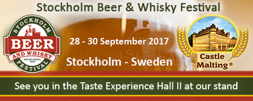 Stockholm Beer & Whisky Festival, Sweden  -  28 - 30 Sept. 2017