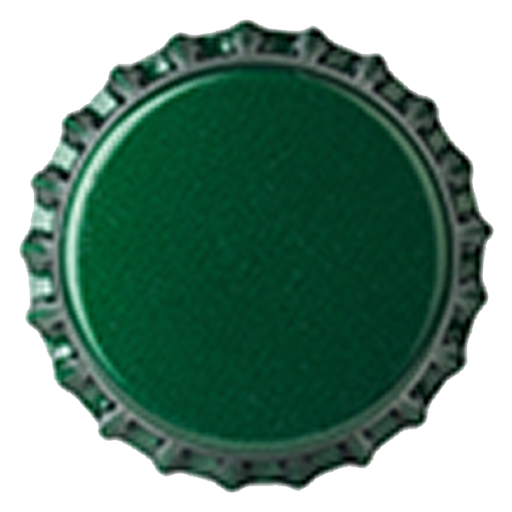 Crown Caps 26mm TFS-PVC Dark Green col. 2410 (10000/box)