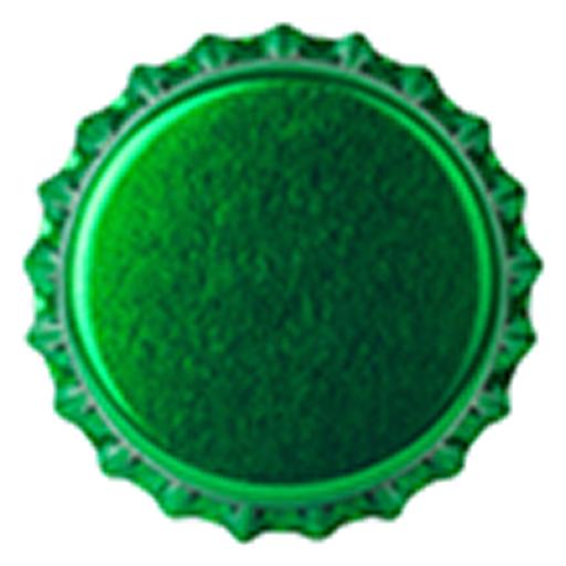 Crown Caps 26mm TFS-PVC Free Green col. 2722 (10000/box)