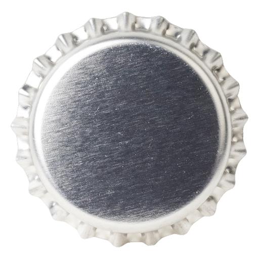 Crown Caps 26mm TFS-PVC Free, Silver Transparent col. 2118 (10000/box)