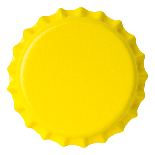 Crown Caps 26 mm TFS-PVC Free, Yellow col. 2165 (10000/box)