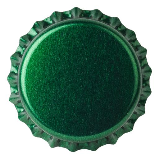 Crown Caps 26mm TFS-PVC Free, Dark Green Transparent col. 2251 (10000/box)