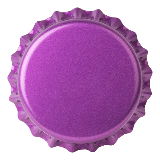 Crown Caps 26mm TFS-PVC Free, Purple  col. 2277 (10000/box)