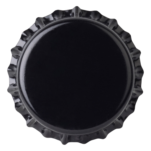 Crown Caps 26 mm TFS-PVC Free, Black col. 2439 (10000/box)