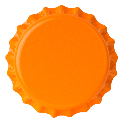 Crown Caps 26mm TFS-PVC Free, Orange col. 2605 (10000/box)