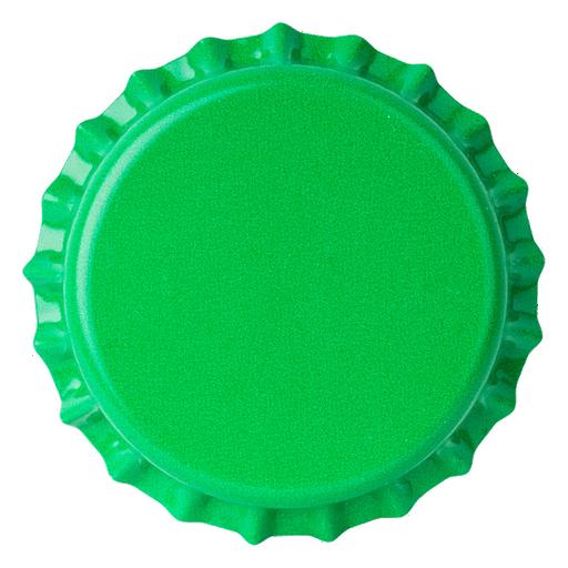 Crown Caps 26mm TFS-PVC Free, Green Opaque col. 2683 (10000/box)
