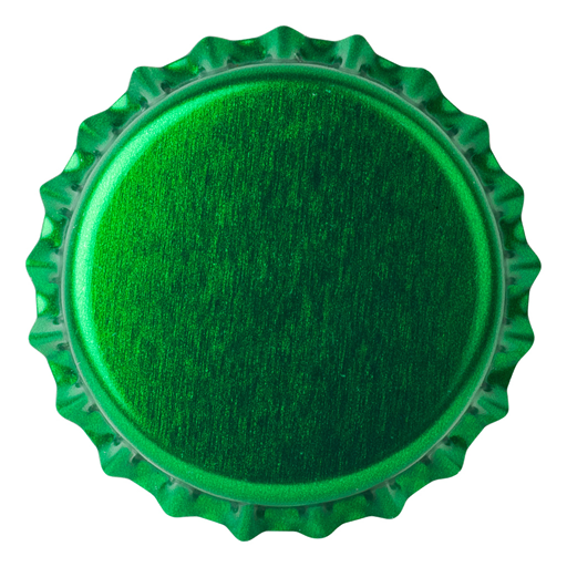 Crown Caps 26mm TFS-PVC Free, Green Transparent col. 2722 (10000/box)