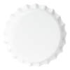 Crown Caps 26mm TFS-PVC Free, White col. 2526 (10000/box)