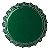 Crown Caps 26mm TFS-PVC Dark Green col. 2410 Grøn (10000/papkasse)